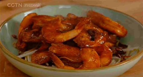 Фотография китайского блюда «Оригинальные острые креветки»