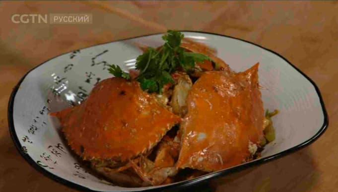 Фотография китайского блюда «Ароматный острый краб»